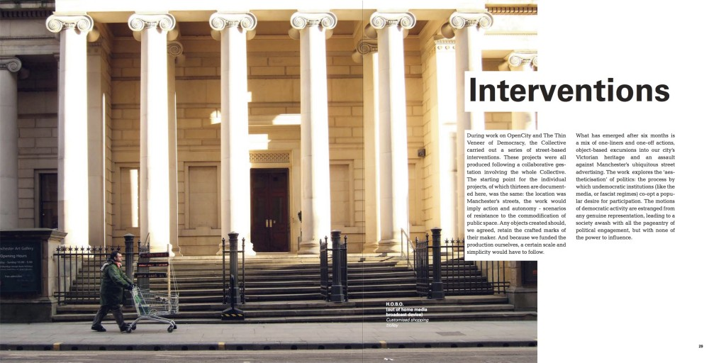 Interventions book spread